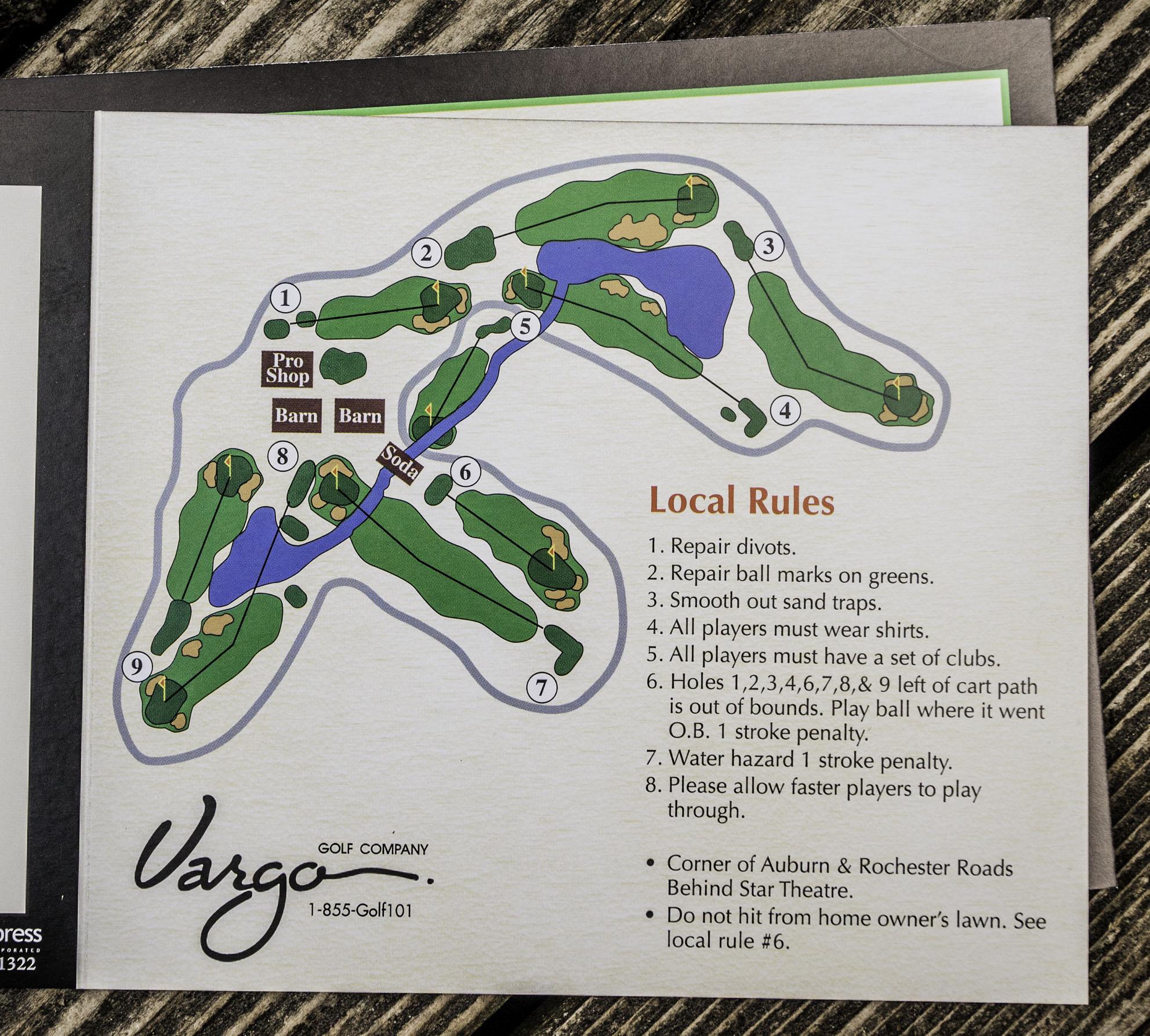 Scorecard | Hampton Golf Course