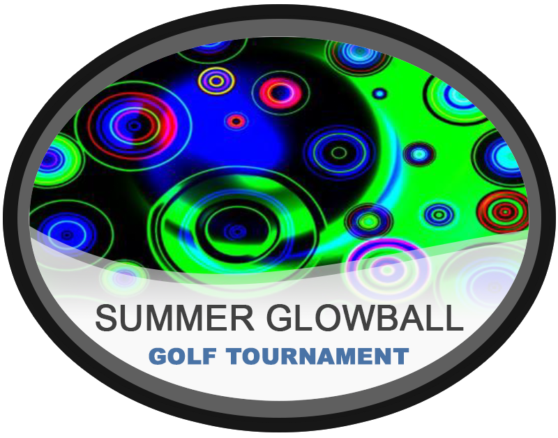 Summer Glowball Night Golf Tournament Hampton Public Golf Course Rochester Hills Michigan Near Detroit